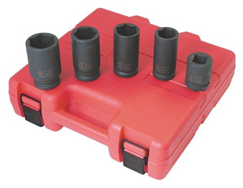Sunex International 4050 34 Drive Truck Wheel Service Impact Socket Set - 5 Pc
