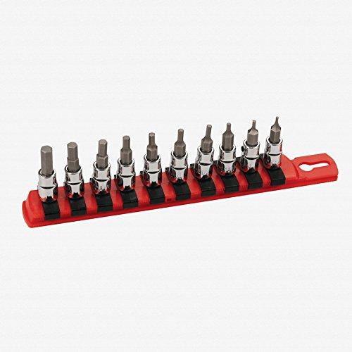 Wiha 71391 Socket Set 14-Inch Drive Sockets Hex Inch 10 Piece