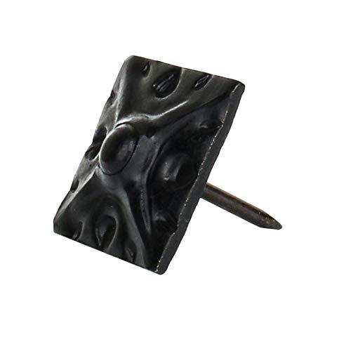 decotacks Square Art Upholstery NailsTacks 58 x 58 17MMx17MM - 25 Pcs MATT Black DX8017MBL