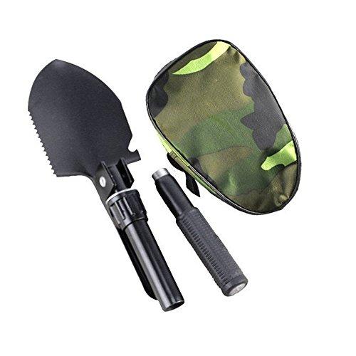 Ezyoutdoor Military Portable Folding Camping Shovel Survival Spade Trowel Dibble Pick Emergency Garden Outdoor Tool