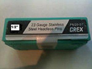 Grex Power Tools P612-ST  23-Gauge 12-Inch Length Stainless Steel Headless Pins