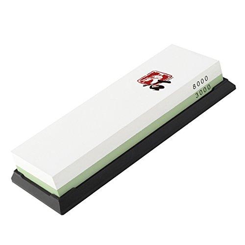 Three Guys 3000 8000 Grit Pro Whetstone Knife Sharpening Sharpener Stones Rubber Holder Included