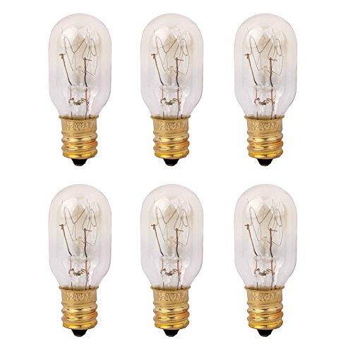 Himalayan Salt Lamp 25 Watt Original Replacement Candelebra Light Incandescent Bulbs E12 Socket 6 Pack One Set