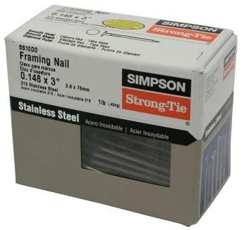 Simpson Strong Tie SS10DD 10d x 3 Joist Hanger Nails 316 Stainless Steel 1-lb per Package
