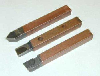 14 square brazed tip carbide tool set