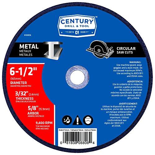 Century Drill Tool 8806 Metal Abrasive Saw Blade 6-12