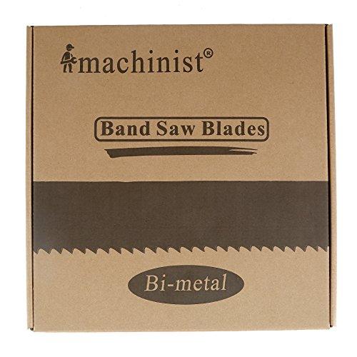 Imachinist S9812341014 M42 98-12 X 34 X 1014tpi Bi-metal Metal Cutting Band Saw Blades