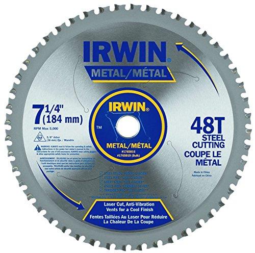 Irwin 4935555 7-14 x 48-Tooth Metal Cutting Circular Saw Blade for Ferrous Steel