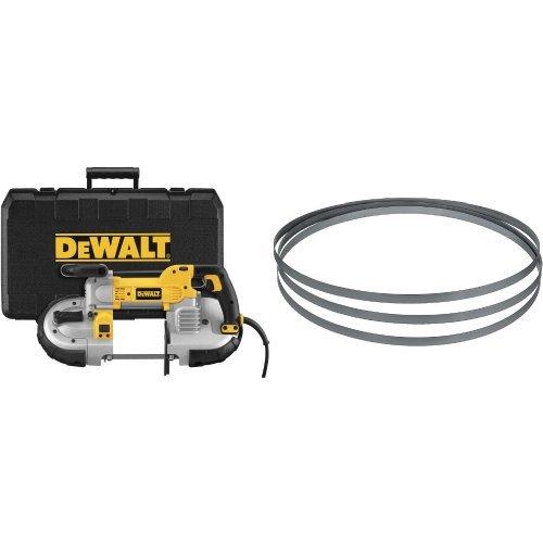 DEWALT DWM120K 10 Amp 5-Inch Deep Cut Portable Band Saw Kit with 24TPI Portable Band Saw Blade - 44-78-Inch 020-Inch Matrix Ll 3-Pack