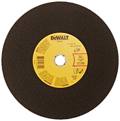 DEWALT DWA8032 Metal Port Saw Cut-Off Wheel 12-Inch X 18-Inch X 1-Inch