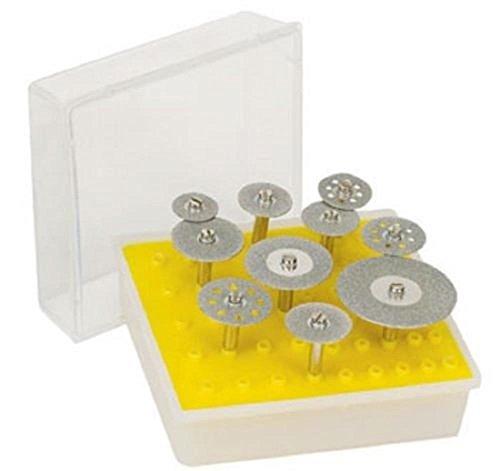 Rotary Tools Diamond Saw Cut-Off Discs Wheel Blades 10pc Rotary Tool Set 18 Shank for Dremel