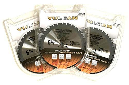3 PC VULCAN 6-12 CARBIDE 30 TOOTH CORDLESS CIRCULAR SAW BLADES FRAMING 30T 5194 112-5194