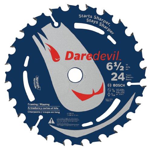 Bosch DCB624 Daredevil 6-12-Inch 24-Tooth Framing Ripping CordedCordless Circular Saw Blade