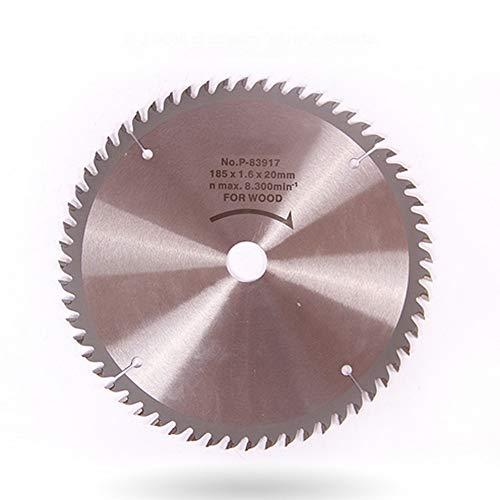 Gyj&mmm Circular Saw Blade Alloy Steel Woodworking Blade Cordless Circular Saw Blade 185x 20mm60 Teeth Wood Cutting Precision Saw 7 inch