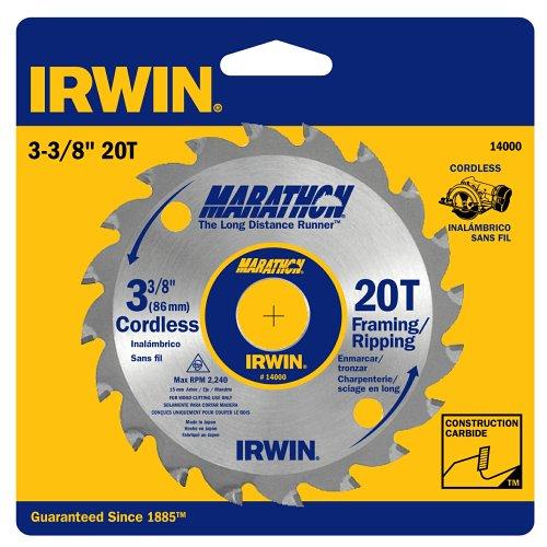 IRWIN Marathon carbide Cordless Circular Saw Blades - 3-38 - 20T