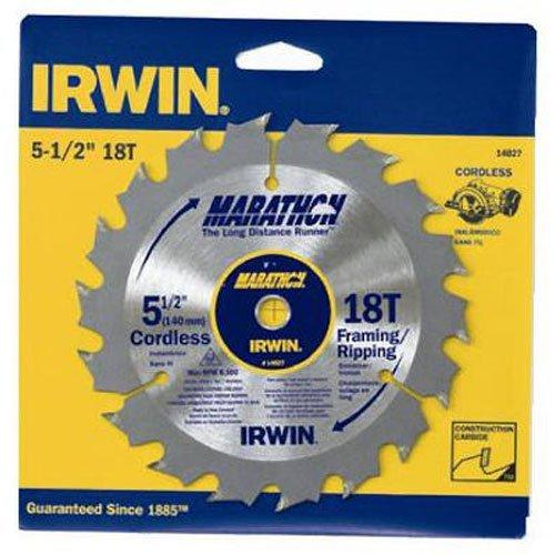 IRWIN Tools MARATHON Carbide Cordless Circular Saw Blade 5 12-Inch 18T 063-inch Kerf 14027