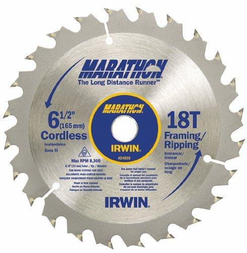 Irwin 14020 Marathon 6-12 x 18-Tooth FramingRipping Cordless Circular Saw Blades