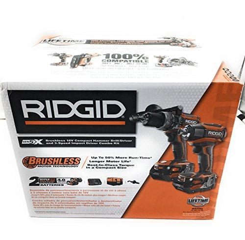 RIDGID TOOL COMPANY GIDDS2-3554586 RIDGID 18V Hammer Drill 3Sp Impact Kit - 3554586