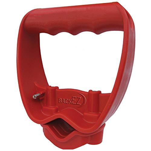 Back-Saving Tool Handle Labor-Saving Ergonomic Shovel or Rake Handle Attachment RED