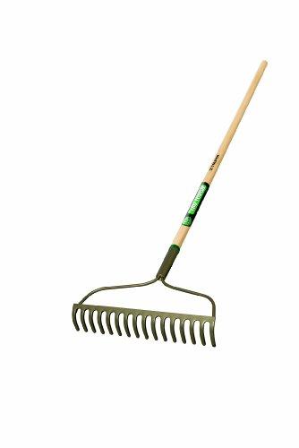 Truper 33038 Tru Tough Welded Bow Rake with 16 Teeth Wood Handle 54-Inch