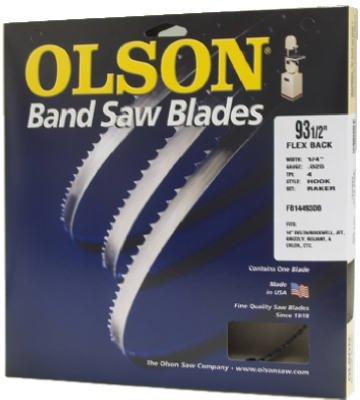 Olson Hard Edge Flex Back Band Saw Blade Fits All 14-Inch DeltaRockwell Jet Grizzly Reliant Enlon Star Bridgewood
