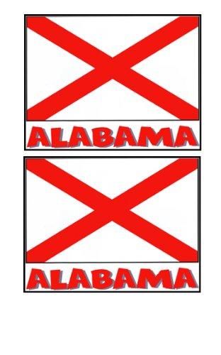 2 Souvenir Alabama State Flag Stickers Decal Laptop Phone Locker Toolbox Wall Stocking Stuffer