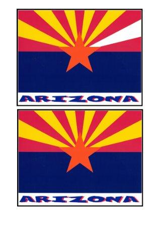 2 Souvenir Arizona State Flag Stickers Decal Laptop Phone Locker Toolbox Wall Stocking Stuffer