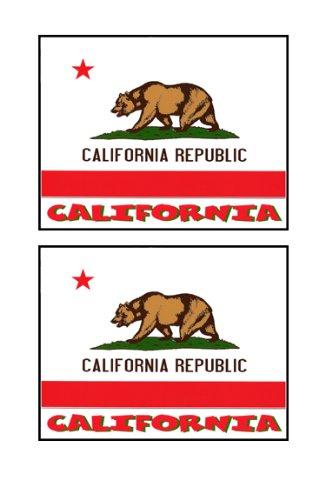 2 Souvenir California State Flag Stickers Decal Laptop Phone Locker Toolbox Wall Stocking Stuffer