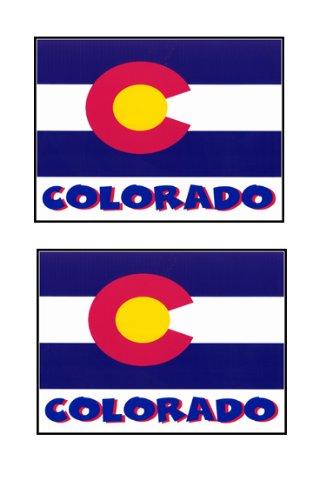 2 Souvenir Colorado State Flag Stickers Decal Laptop Phone Locker Toolbox Wall Stocking Stuffer