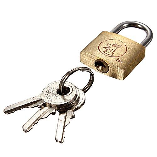BephaMart 20mm Suitcase Locker Toolbox Brass Padlock Long Shackle keys Shipped and Sold by BephaMart