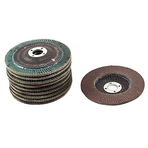Uxcell 240 Polishing Flap Sanding Abrasive Wheels Disc 10 Piece 100mm
