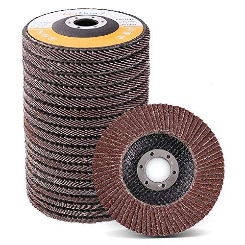 45 Inch Flap Discs by LotFancy - 20PCS 40 60 80 120 Grit Assorted Sanding Grinding Wheels Aluminum Oxide Abrasives Type 27