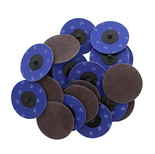 ABN Aluminum Oxide Sanding Discs 25-Pack 3in 36 Grit - Metal Sanding Wheels for Surface Prep and Finishing Work
