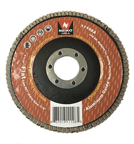 Neiko 11108A Aluminum Oxide Flap Disc  45 x 78-Inch 80 Grit Flat Type 27-10 Pack