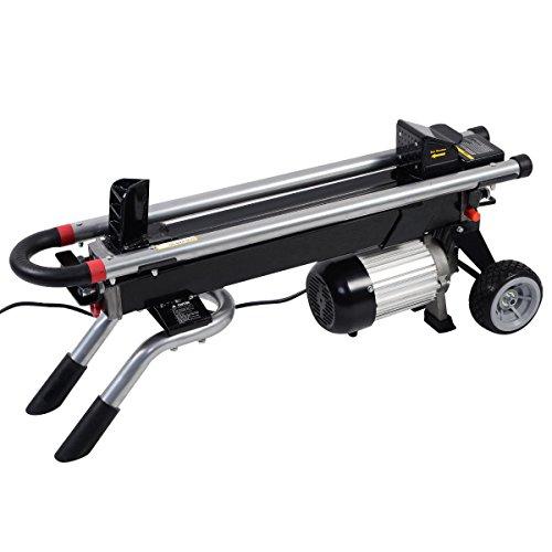 Kissemoji 1500W 6 Ton Electric Hydraulic Log Splitter Portable Wood Cutter