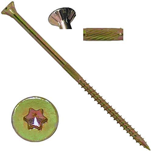 10 X 5 Gold Star Wood Screw TorxStar Drive Head 1 Pound - 38 Approx Screw Count - Multipurpose TorxStar Drive Wood Screws