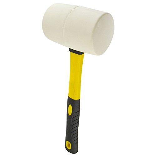 32oz White Rubber Mallet 70 Fibreglass Handle Hammer Non Marking TE869
