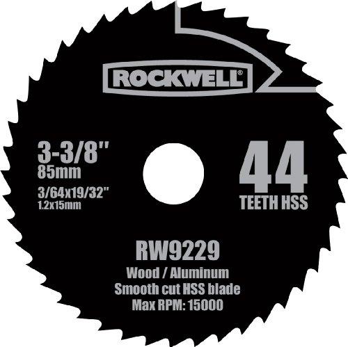 Rockwell RW9229 VersaCut 3-38-inch 44T HSS Circular Saw Blade