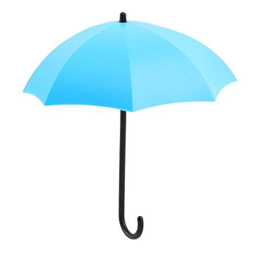 Mochiglory Creative Umbrella Shape 3 PCS Hooks Small Storage Adhesive Wall Hook Rack