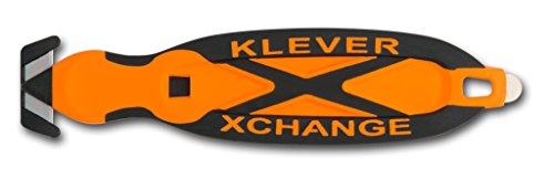 Klever XChange Safety Box Cutter Knife Orange