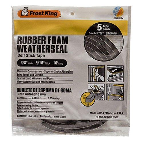 Frost King R538H Sponge Rubber Foam Tape 516-Inch Black