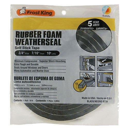 Frost King R734H Sponge Rubber Foam Tape 34 W X 716 H X 10 L Black