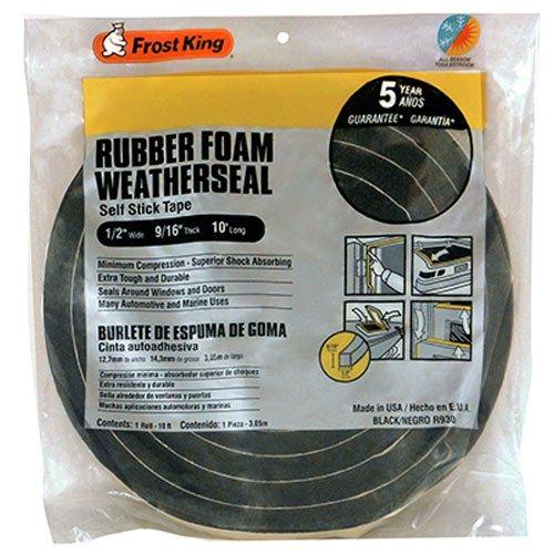Frost King R930H Sponge Rubber Foam Tape 916-Inch Black