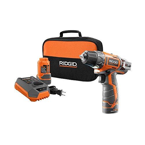 RIDGID TOOL COMPANY GIDDS2-3554590 12V 2-Speed Drill Kit
