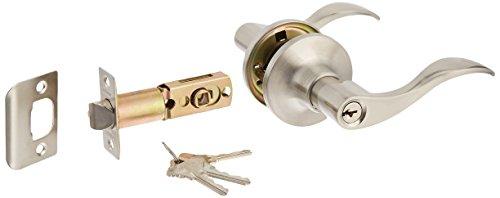 Constructor CON-PRE-SN-ET Prelude Entry Lever Door Lock with Knob Handle Lockset Satin Nickel