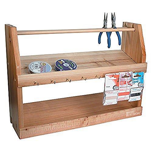 Ikee Design Wooden Jewelry Bead Tool Organizer