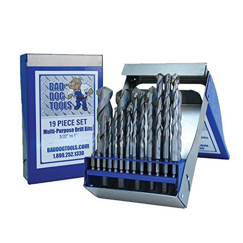 Bad Dog Tools 19 Piece Multipurpose Drill Bit Set