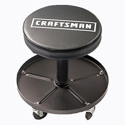 Craftsman Adjustable Pneumatic Mechanics Swivel Seat Black