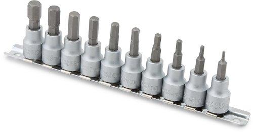 Titan Tools 16134 38 Drive Metric Hex Bit Socket Set - 10 Piece