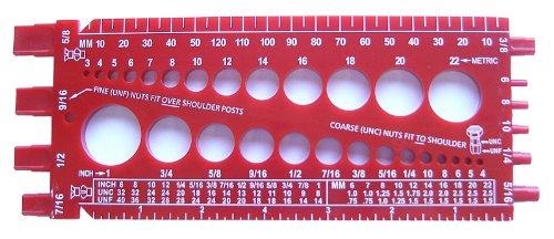 StainlessTown Nut Bolt Thread Gauge RED